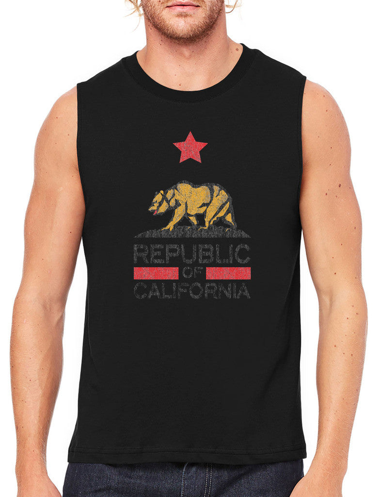 Republic Of California Men's Sleeveless T-Shirt