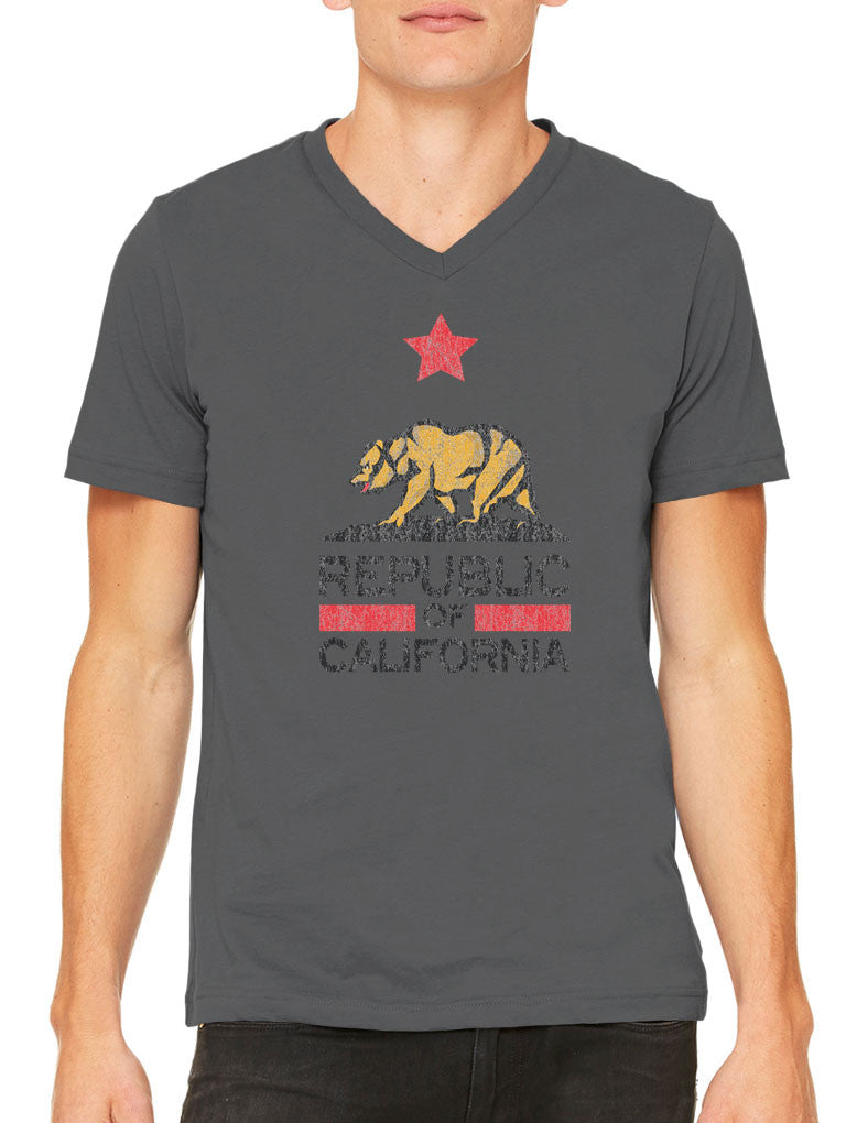 Republic Of California Men's V-neck T-shirt