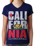 Cali For Nia California Republic Junior Ladies V-neck T-shirt