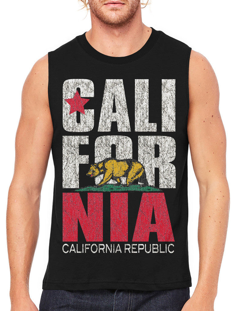 Cali For Nia California Republic Men's Sleeveless T-Shirt