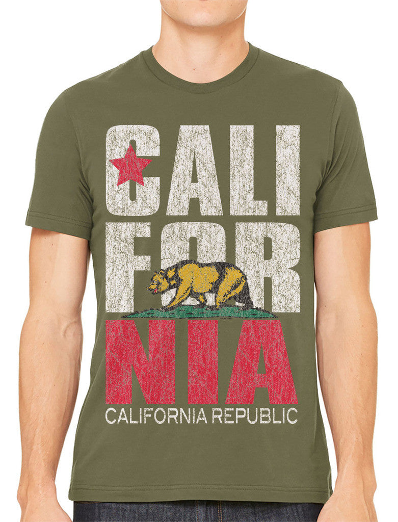 Cali For Nia California Republic Men's T-shirt