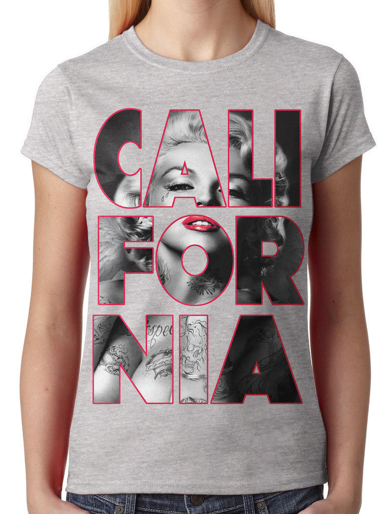 Marilyn Monroe Cali For Nia California Junior Ladies T-shirt