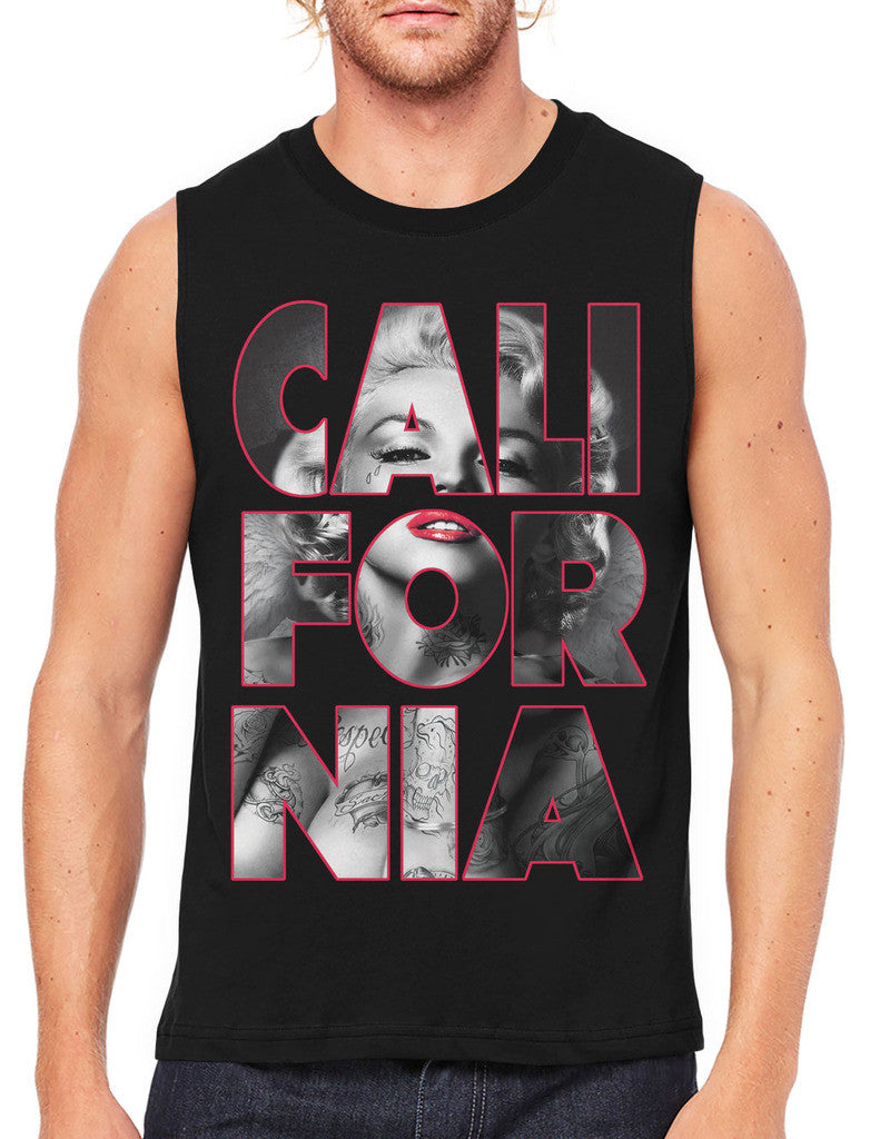 Marilyn Monroe Cali For Nia California Men's Sleeveless T-Shirt