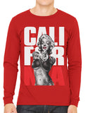 Gangster Marilyn Monroe California Men's Long Sleeve T-shirt