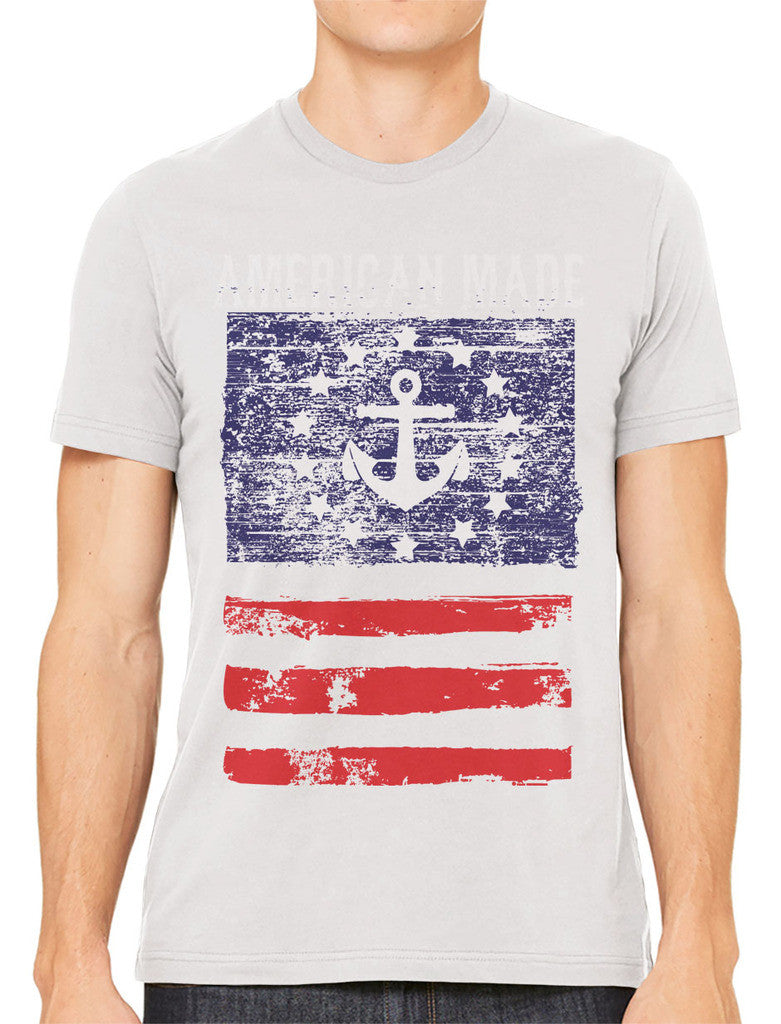 American Made Faded Anchor Flag Men's T-shirt