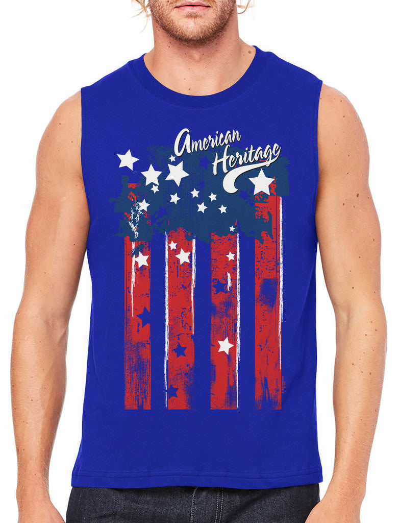 Faded American Heritage Flag Men's Sleeveless T-Shirt