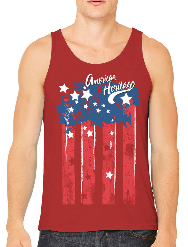 Faded American Heritage Flag Men's Tank Top