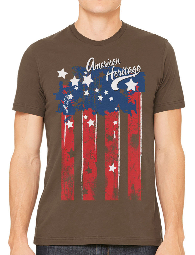 Faded American Heritage Flag Men's T-shirt