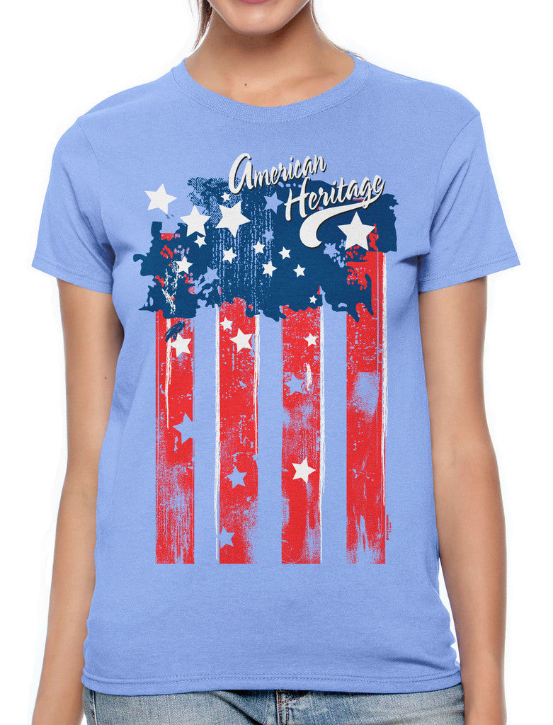 Faded American Heritage Flag Women's T-shirt