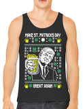 Digital Trump Make St Patricks Day Great Again Men's Tank Top