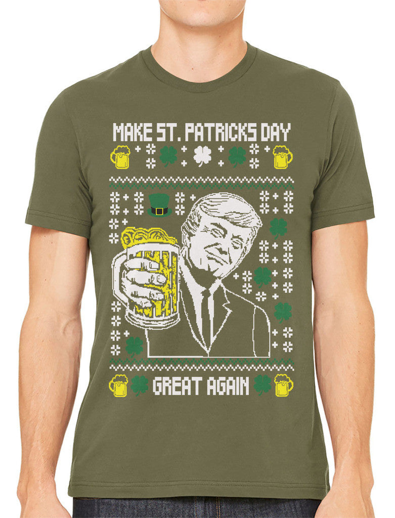 Digital Trump Make St Patricks Day Great Again Men's T-shirt
