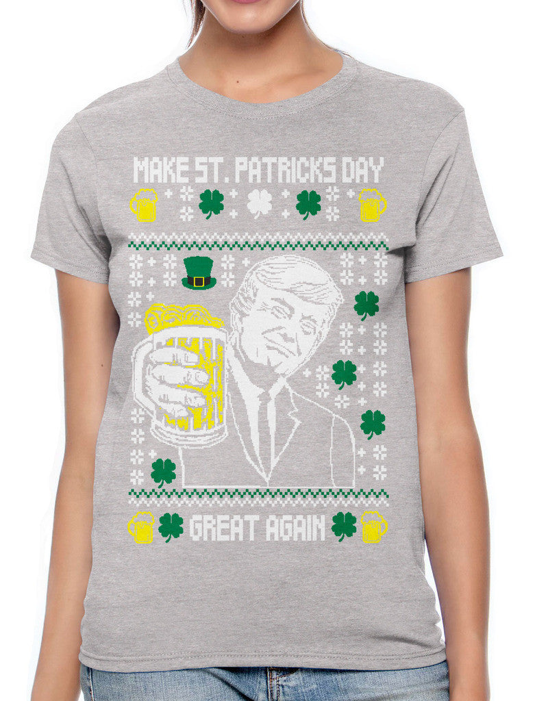 Digital Trump Make St Patricks Day Great Again Women's T-shirt