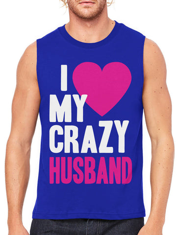 I Love my Crazy Boyfriend Men's Sleeveless T-Shirt