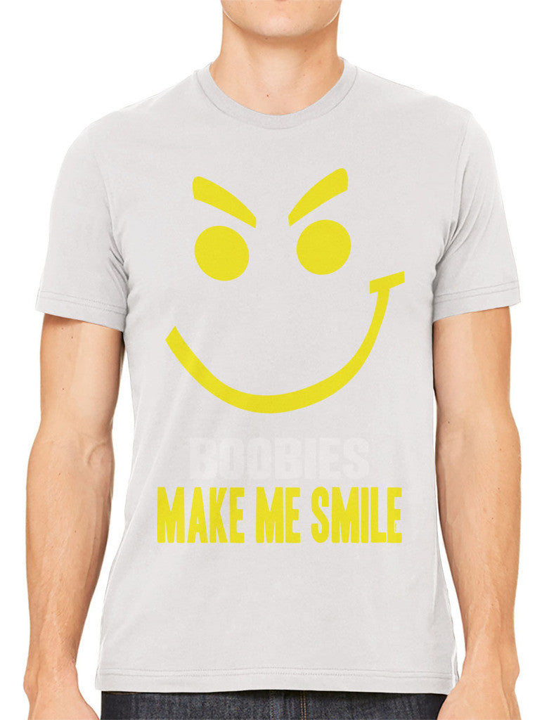 Boobies Make Me Smile Men's T-shirt