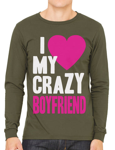 I Love my Crazy Wife Men's Long Sleeve T-shirt