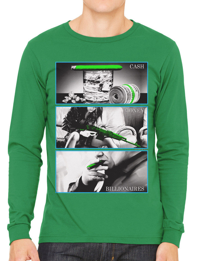 Cash Money Billionaire Men's Long Sleeve T-shirt