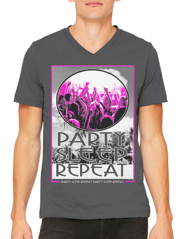 Party Dance Repeat Men's V-neck T-shirt