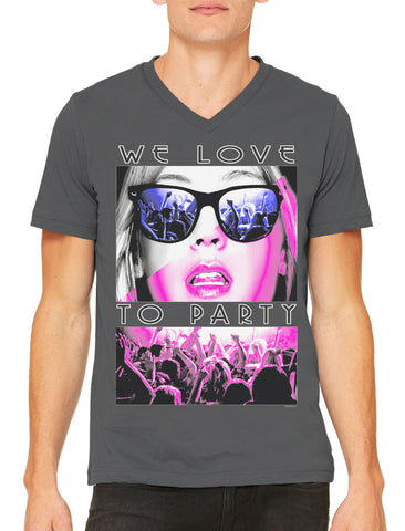Classy Marilyn Monroe Boombox Men's V-neck T-shirt