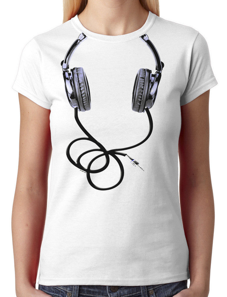 Over Size Headphones Junior Ladies T-shirt