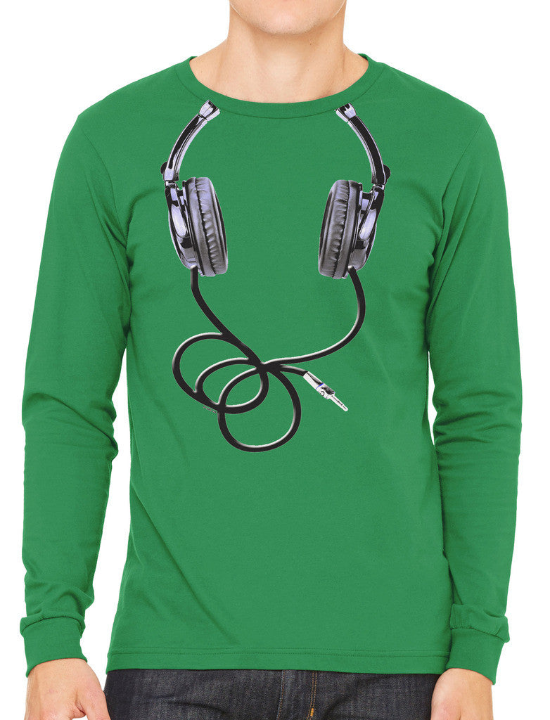 Over Size Headphones Men's Long Sleeve T-shirt