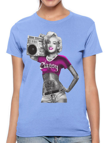 Gangster Marilyn Monroe California Women's T-shirt