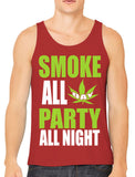 Smoke All Day Party All Night Men's Tank Top