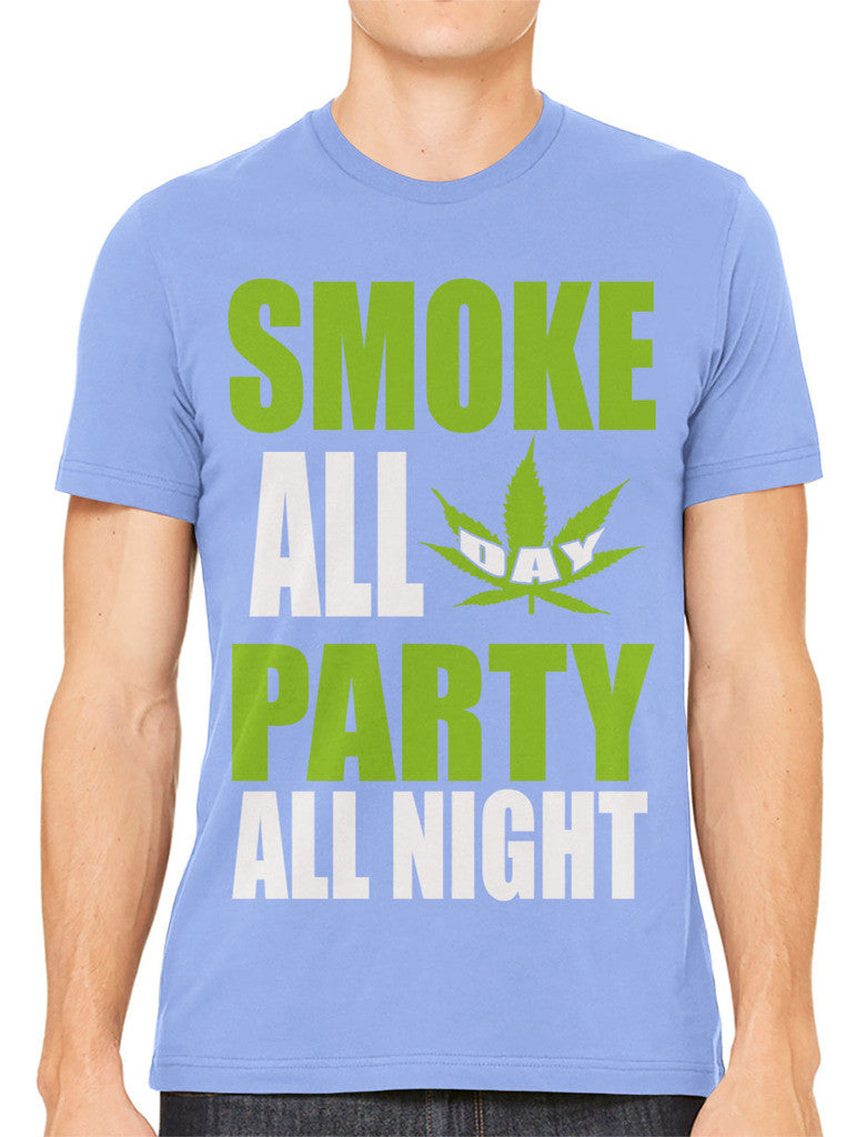 Smoke All Day Party All Night Men's T-shirt