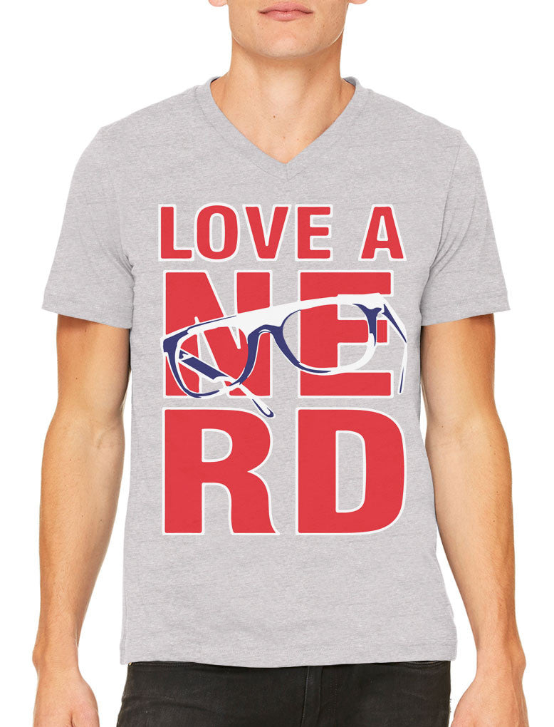 Love A Nerd Men's V-neck T-shirt