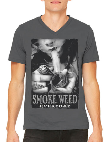 Smoke All Day Party All Night Men's V-neck T-shirt