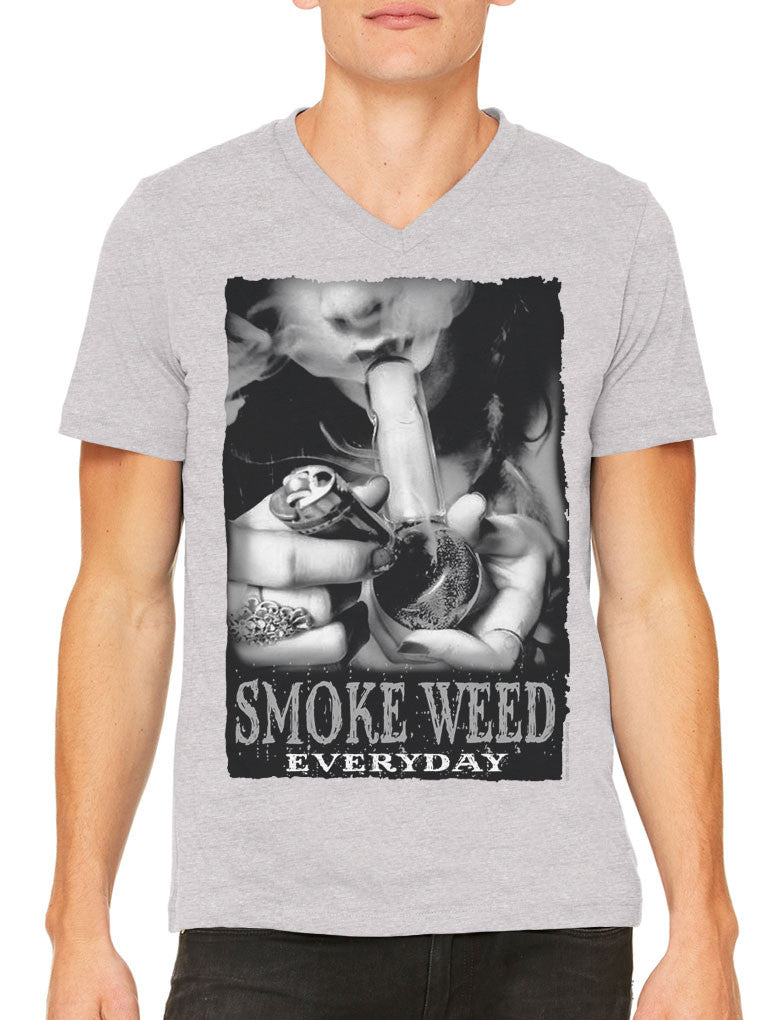 Smoke Weed Everyday Men's V-neck T-shirt