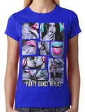 Party Dance Repeat Junior Ladies T-shirt