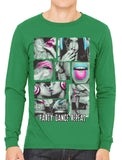 Party Dance Repeat Men's Long Sleeve T-shirt