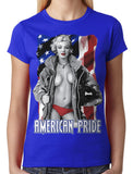 American Pride Marilyn Monroe Junior Ladies T-shirt