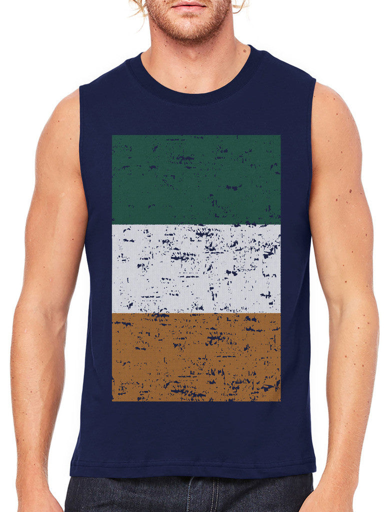 Big Faded Ireland Flag Men's Sleeveless T-Shirt