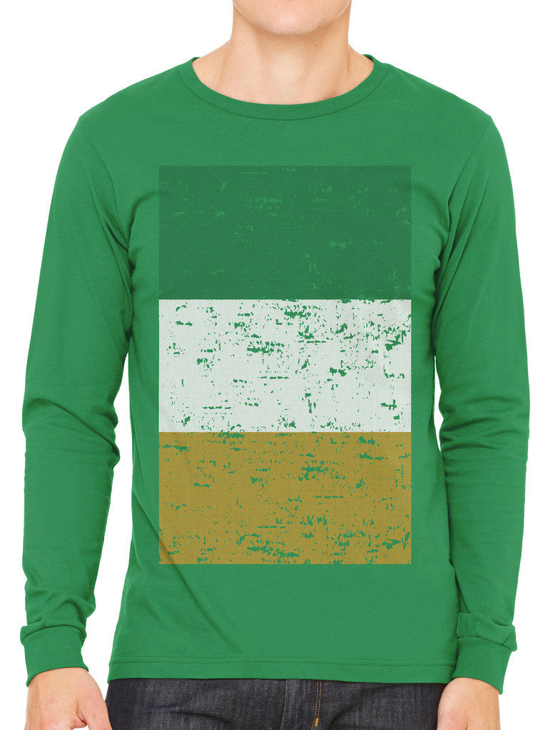 Big Faded Ireland Flag Men's Long Sleeve T-shirt