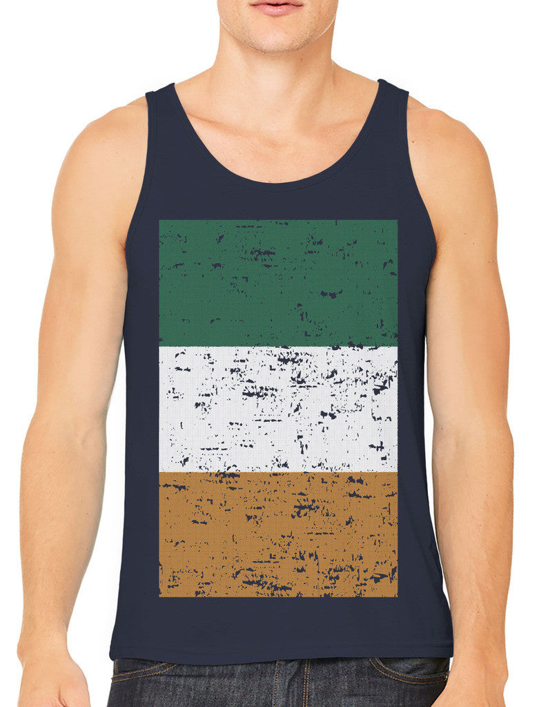 Big Faded Ireland Flag Men's Tank Top