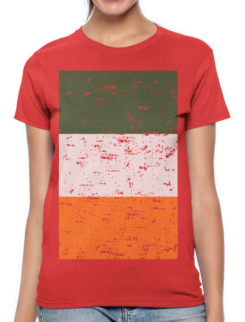Big Faded Ireland Flag Women's T-shirt