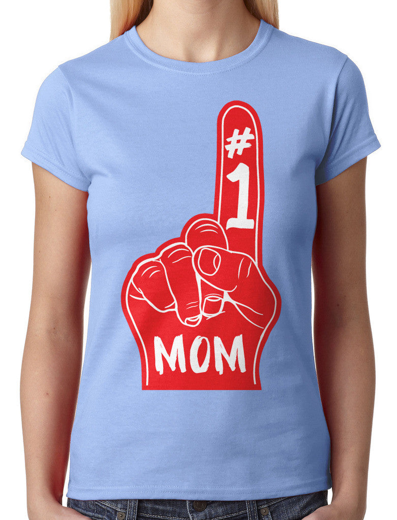 Number 1 Mom Junior Ladies T-shirt