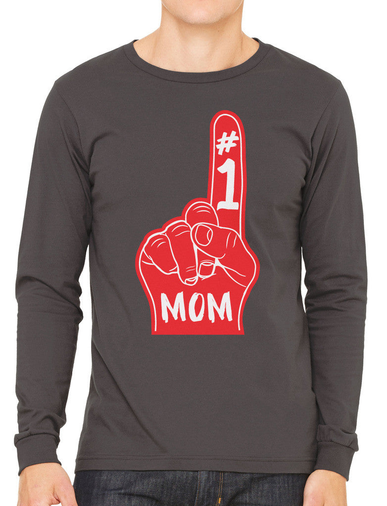 Number 1 Mom Men's Long Sleeve T-shirt