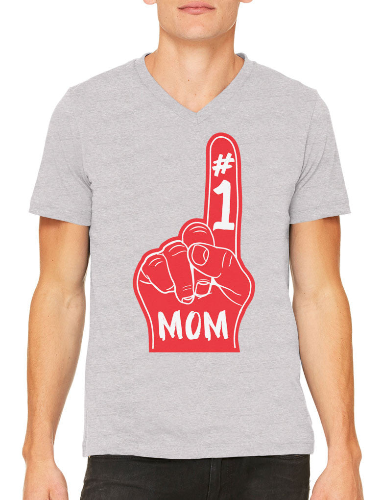 Number 1 Mom Men's V-neck T-shirt