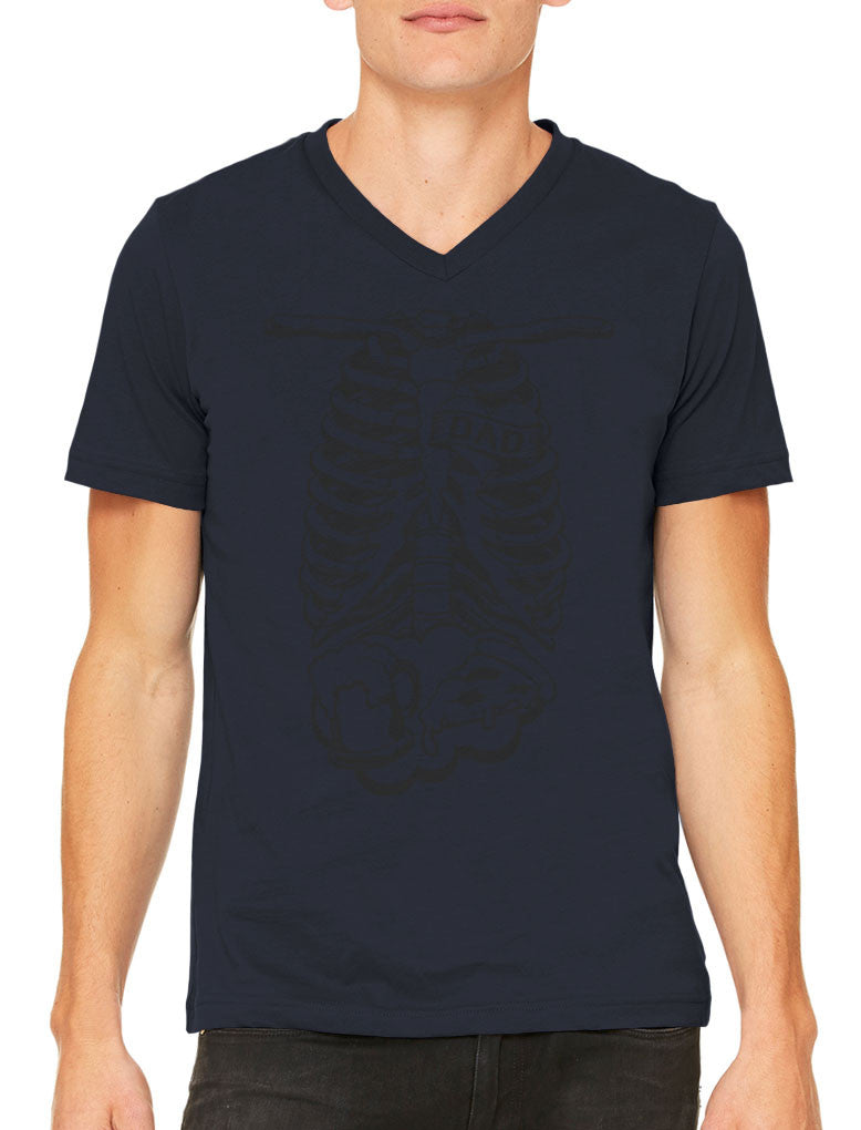 Skeleton Dad Men's V-neck T-shirt