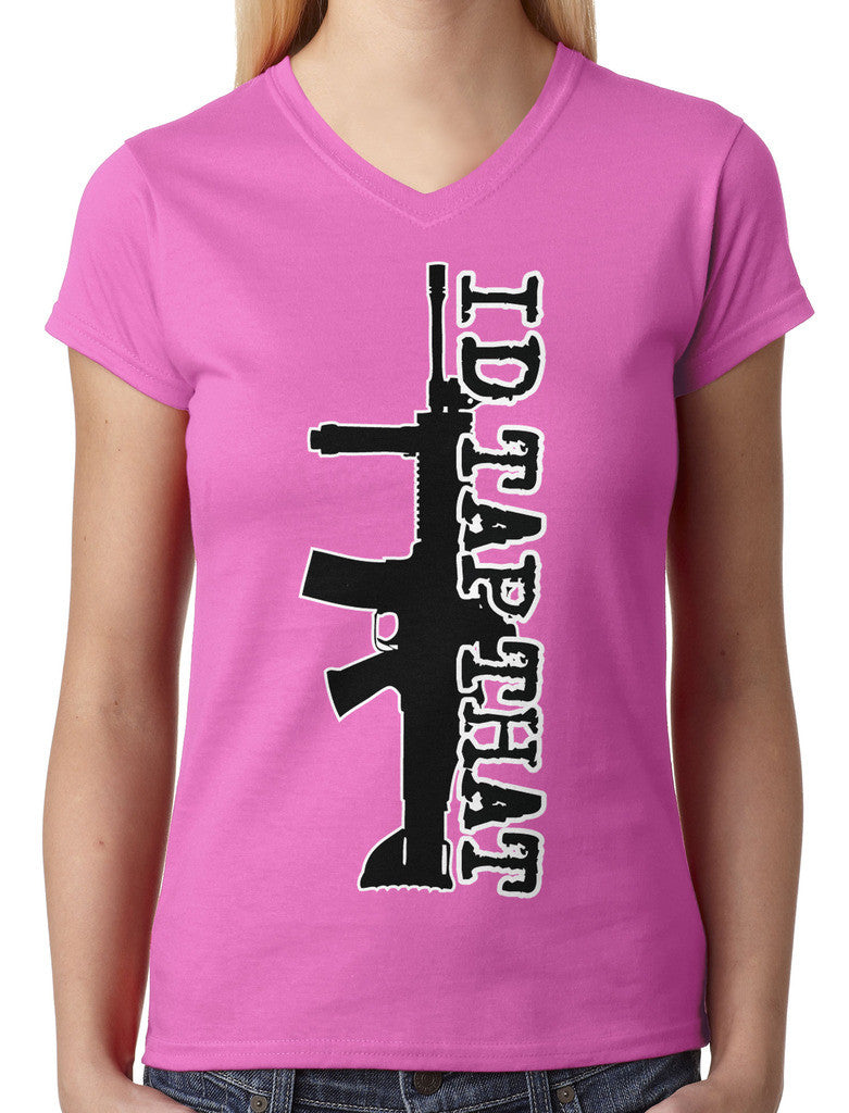 I'd Tap That Junior Ladies V-neck T-shirt