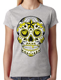 Dia De Los Muertos Sugar Skull Junior Ladies T-shirt