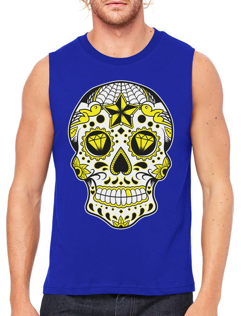 Dia De Los Muertos Sugar Skull Men's Sleeveless T-Shirt