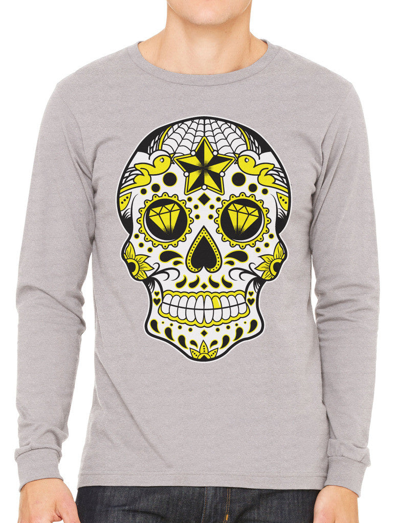 Dia De Los Muertos Sugar Skull Men's Long Sleeve T-shirt