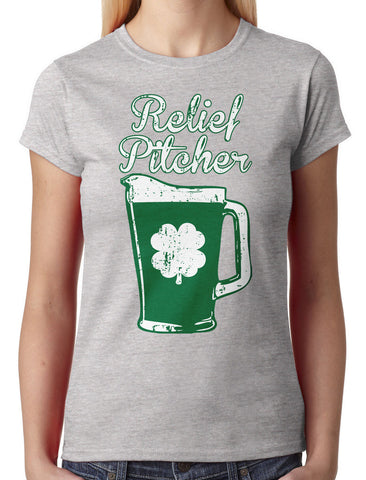 Green Beer Clover Relief Pitcher Women's T-shirt