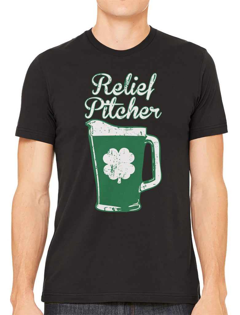 Green Beer Clover Relief Pitcher Men's T-shirt