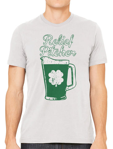 Green Beer Clover Relief Pitcher Men's V-neck T-shirt