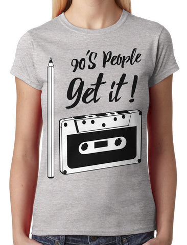 90's People Get It Cassette Tape Women's T-shirt