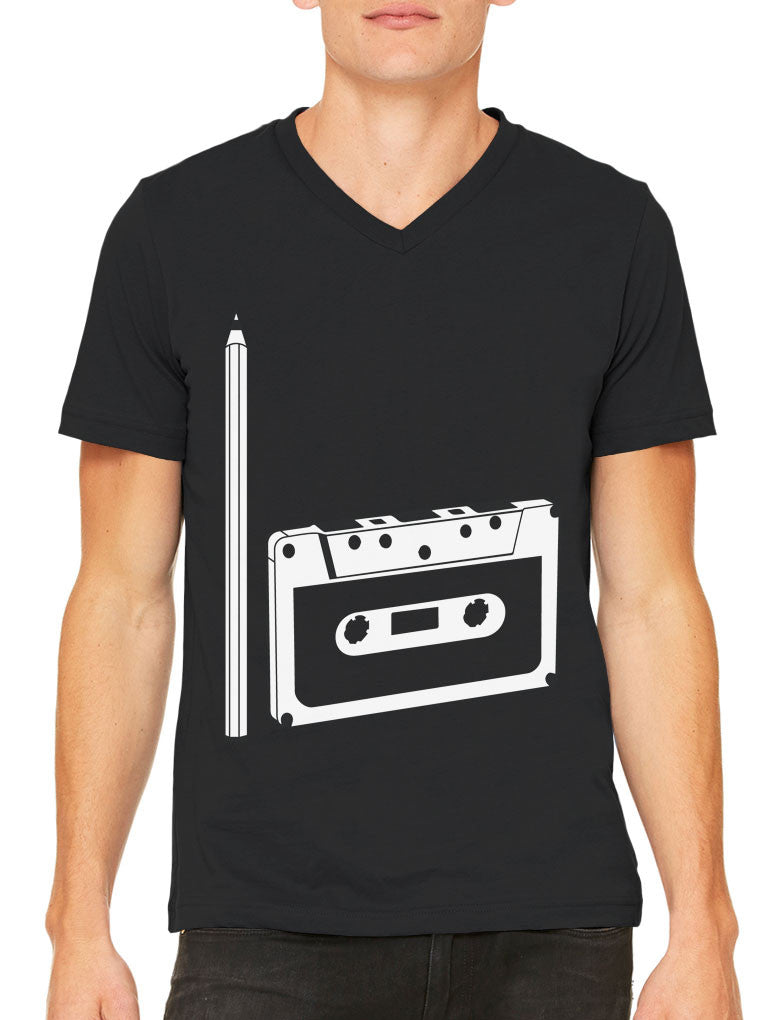 90's People Get It Cassette Tape Men's V-neck T-shirt